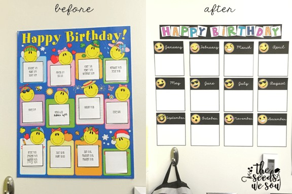 Birthday Charts For Classroom Unique My Easy Decor Hacks This School Year Of 60