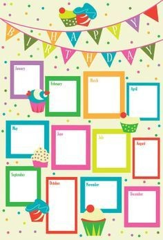 Birthday Charts Images Unique 14 Luxury Chart For Preschool Of