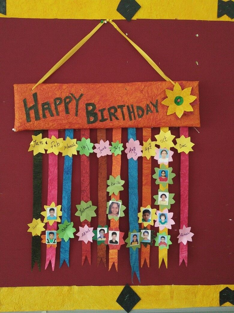 Charts For Kids Classroom Elegant Creative Birthday Chart Designs Template Of 44