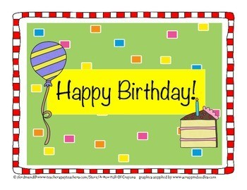 Free Printable Birthday Charts For Classroom New Display Editable Teaching Resources