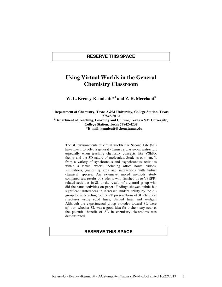 Vsepr theory Chart Pdf Cool Pdf Using Virtual Worlds In the