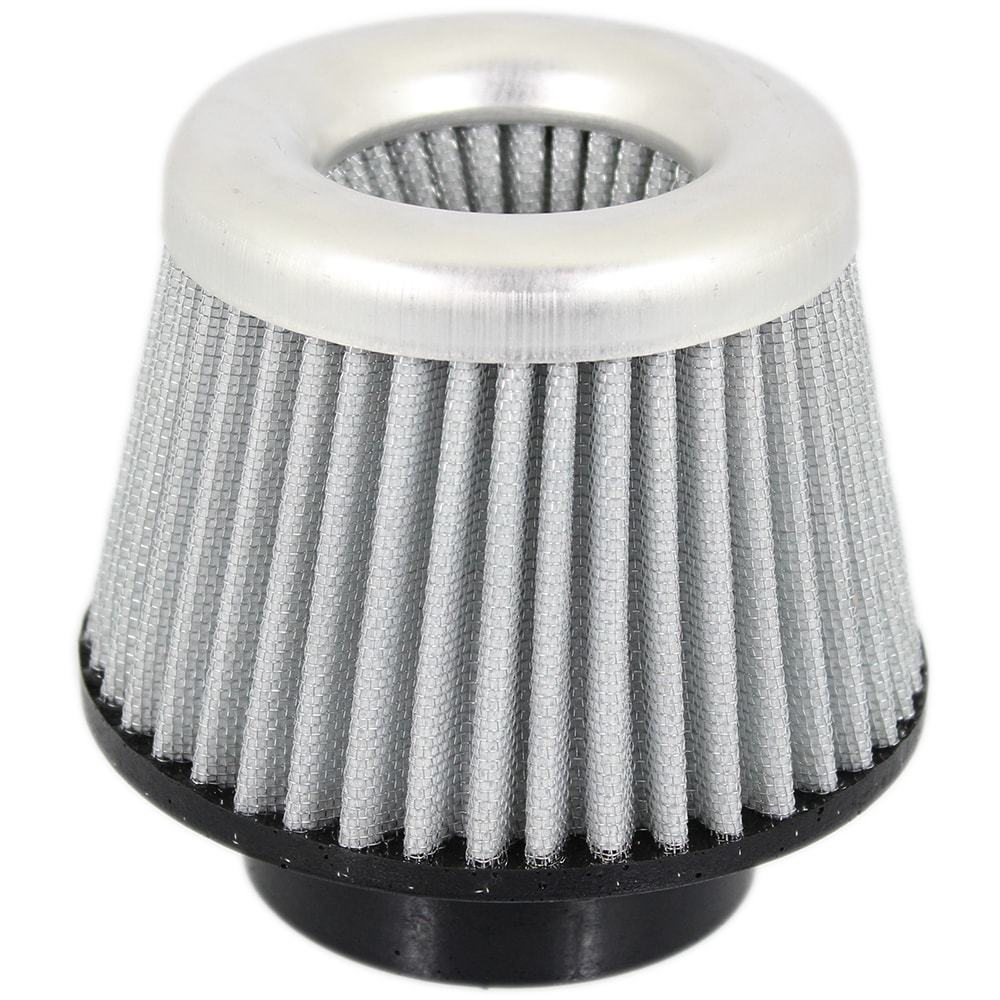 Filtro de Ar Esportivo Lavável Duplo Fluxo Médio Com Boca de Borracha Branco