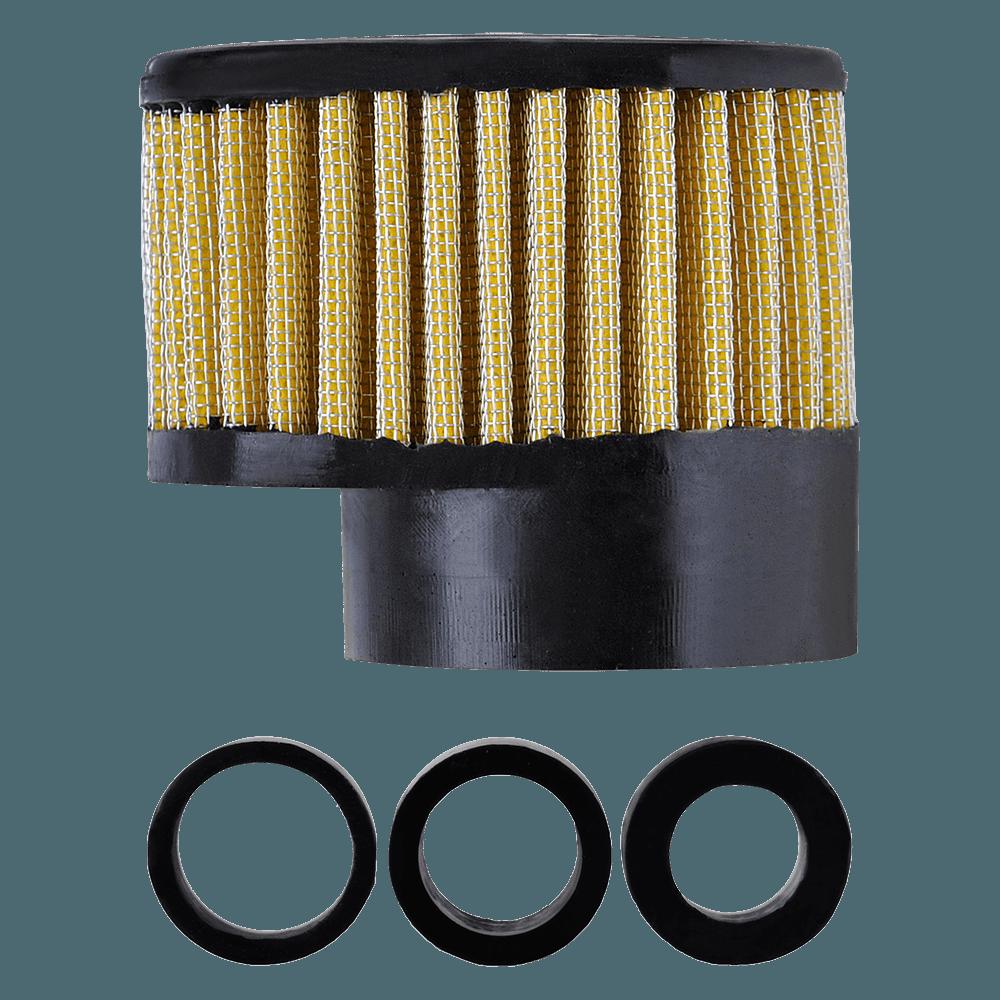 Filtro de Ar Reto Alto Boca 54+Adaptadores 33-38-43mm Amarelo