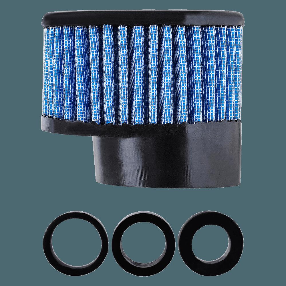 Filtro de Ar Reto Alto Boca 54+Adaptadores 33-38-43mm Azul