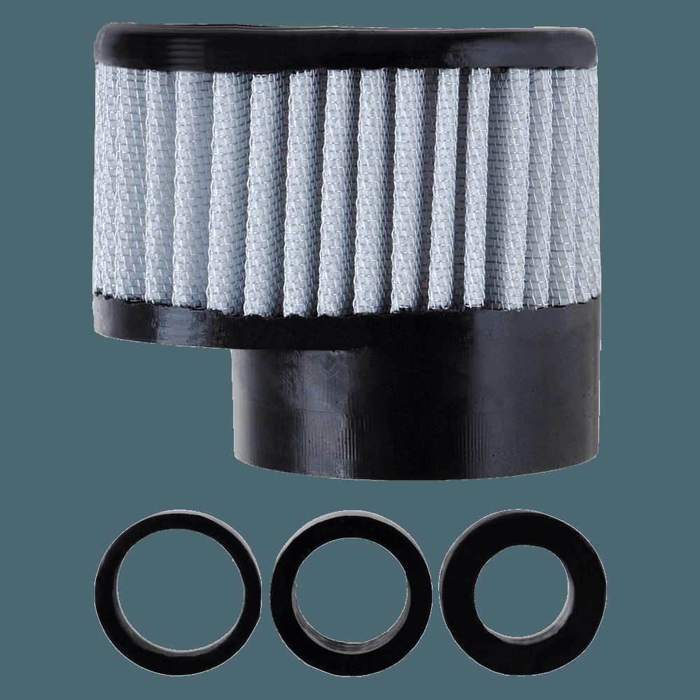 Filtro de Ar Reto Alto Boca 54+Adaptadores 33-38-43mm Branco
