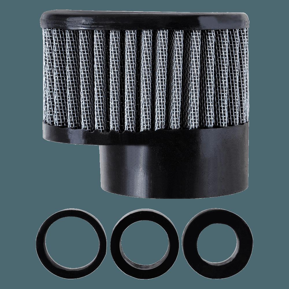 Filtro de Ar Reto Alto Boca 54+Adaptadores 33-38-43mm Preto