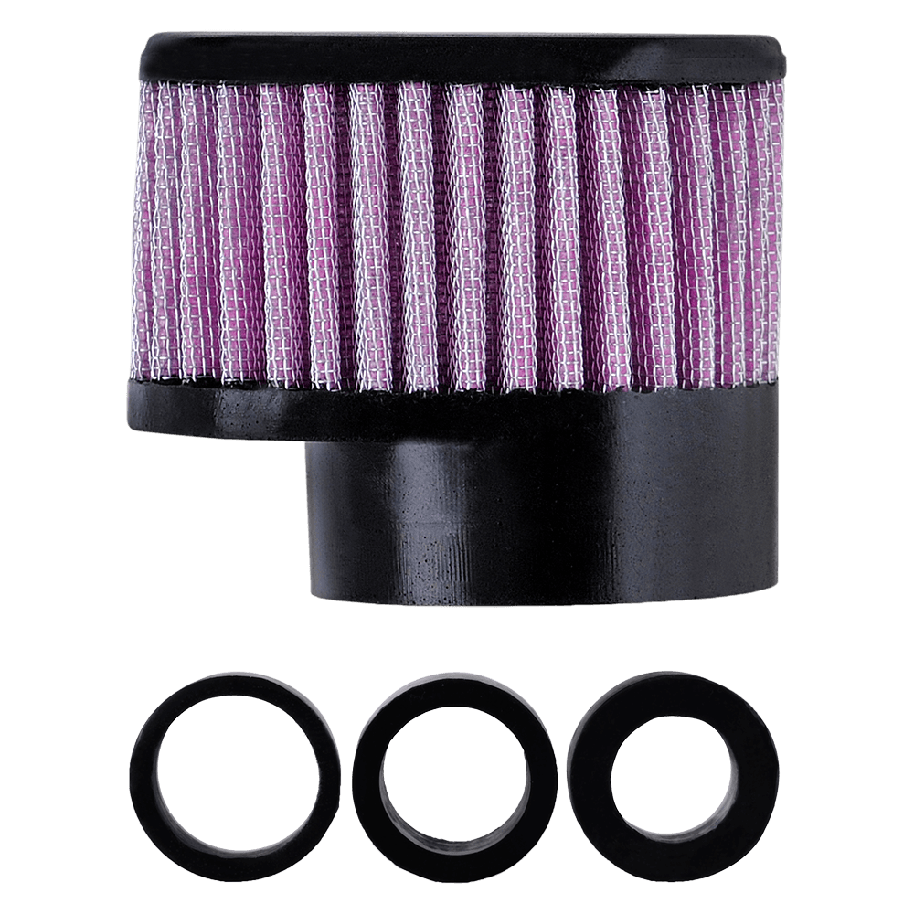 Filtro de Ar Reto Alto Boca 54+Adaptadores 33-38-43mm Rosa