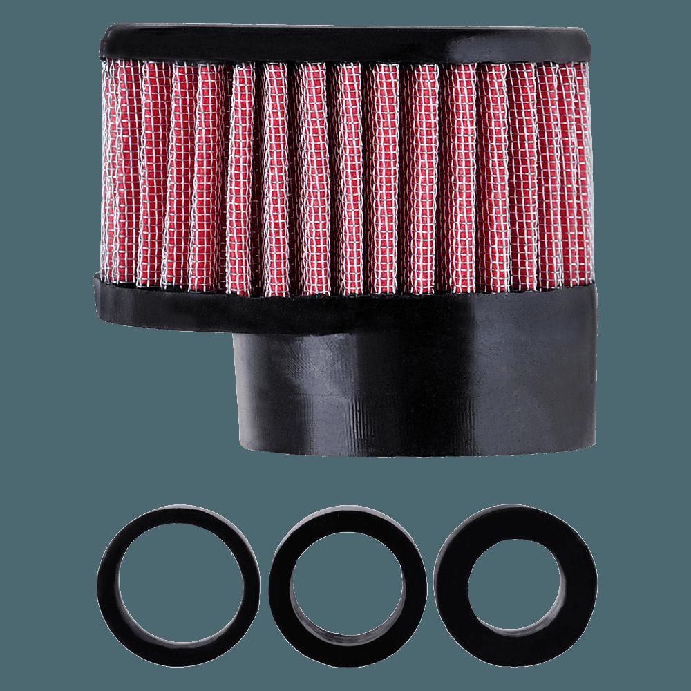 Filtro de Ar Reto Alto Boca 54+Adaptadores 33-38-43mm Vermelho