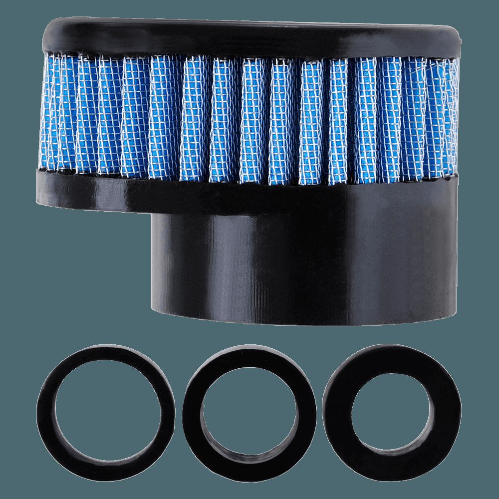 Filtro de Ar Reto Baixo Boca 54+Adaptadores 33-38-43mm Azul