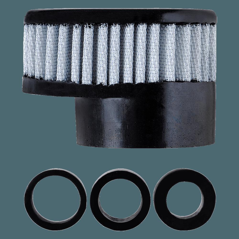 Filtro de Ar Reto Baixo Boca 54+Adaptadores 33-38-43mm Branco