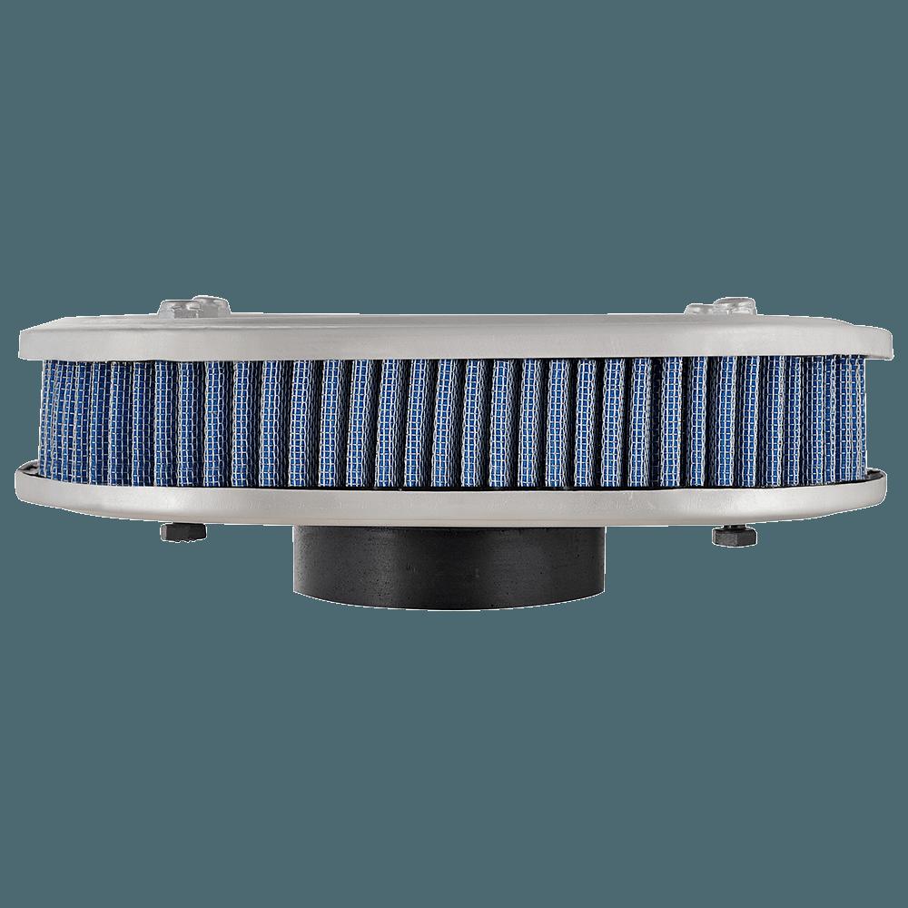Kit Filtro Ar Marmita Oval+Filtro Ar Esportivo Lavável 2E Azul