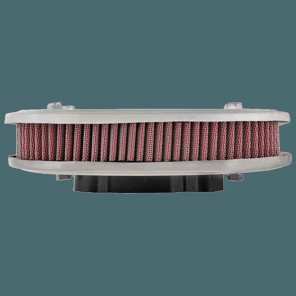 Kit Filtro Ar Marmita Oval Esportivo Lavável 2E Vermelho