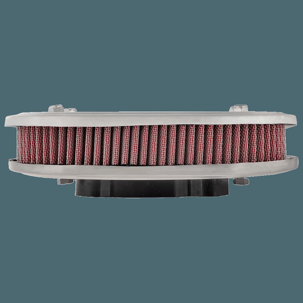 Kit Filtro Ar Marmita Oval Lavável Esportivo TLDZ Vermelho