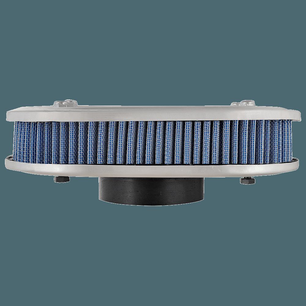 Kit Filtro Ar Marmita Oval Lavável Weber Chevette Azul