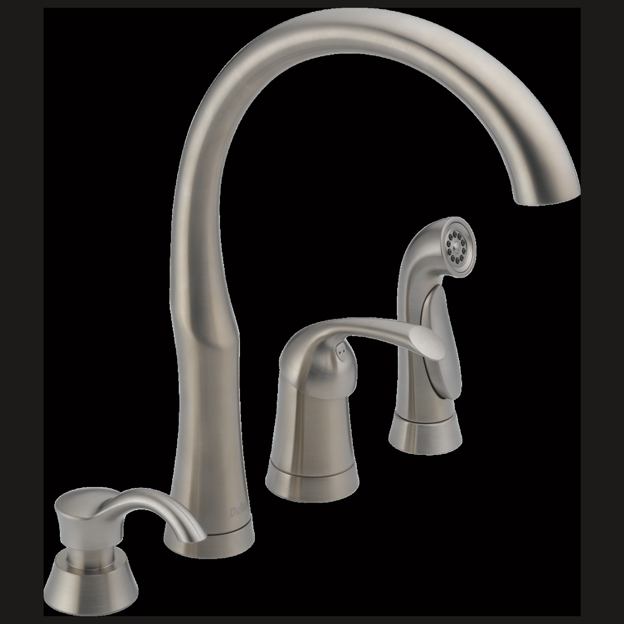 Ideas, 11946 sssd dst single handle kitchen faucet with spray soap inside dimensions 2000 x 2000  .