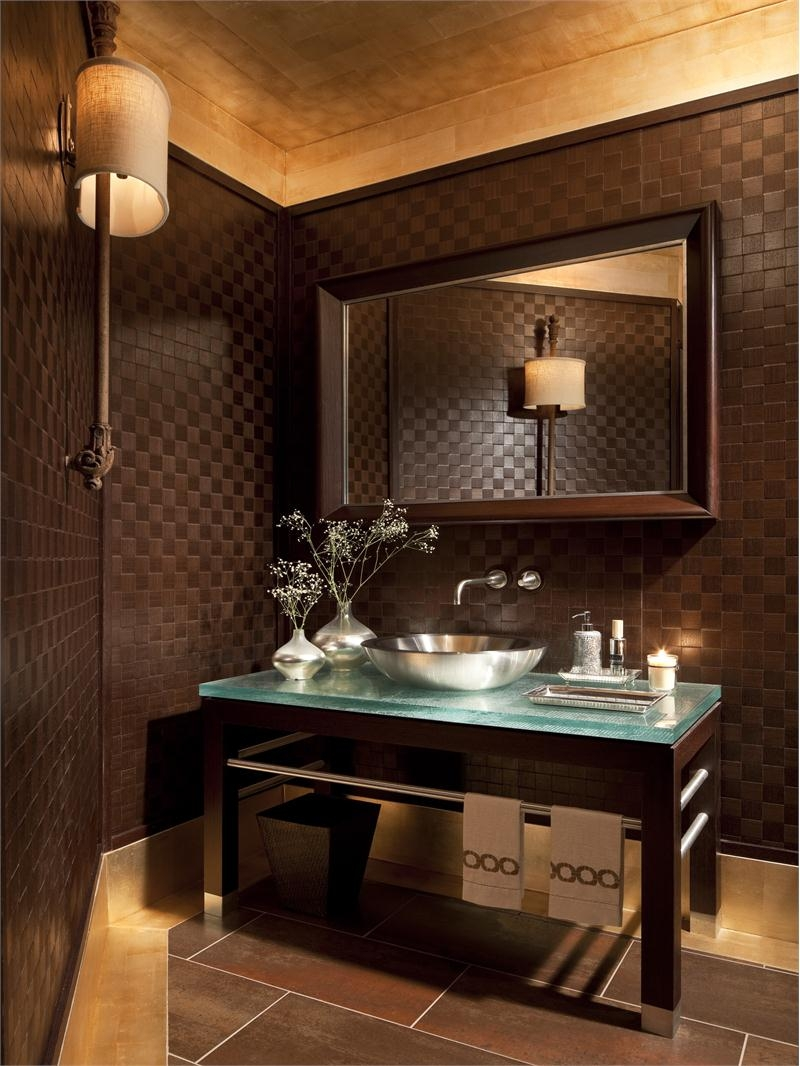 Ideas, 18 statement making powder rooms dk decor intended for dimensions 800 x 1066  .