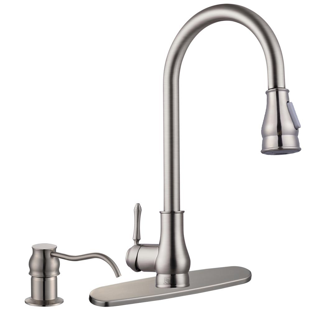 Ideas, 18034 pull down kitchen sink faucet with soap dispenser home intended for measurements 1000 x 1000  .