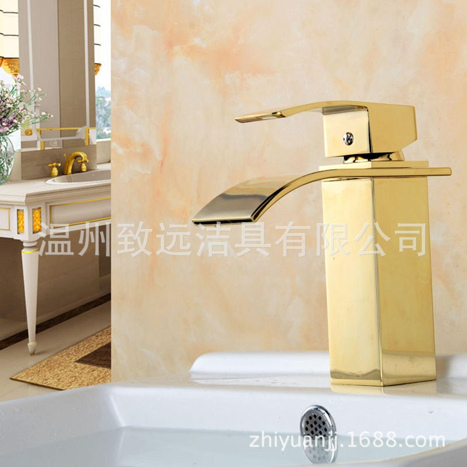 Ideas, 2017 golden copper sink waterfall faucet luxury lavatory faucet pertaining to dimensions 1500 x 1500  .