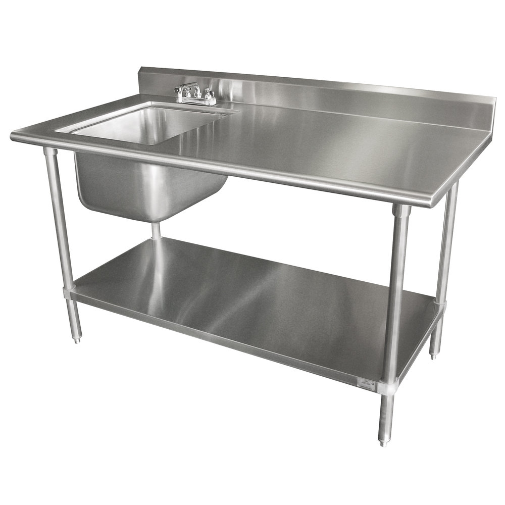 Ideas, 30 x 60 stainless steel table with sink and faucet 30 x 60 stainless steel table with sink and faucet advance tabco kms 11b 306 30 x 72 16 gauge stainless steel work 1000 x 1000  .