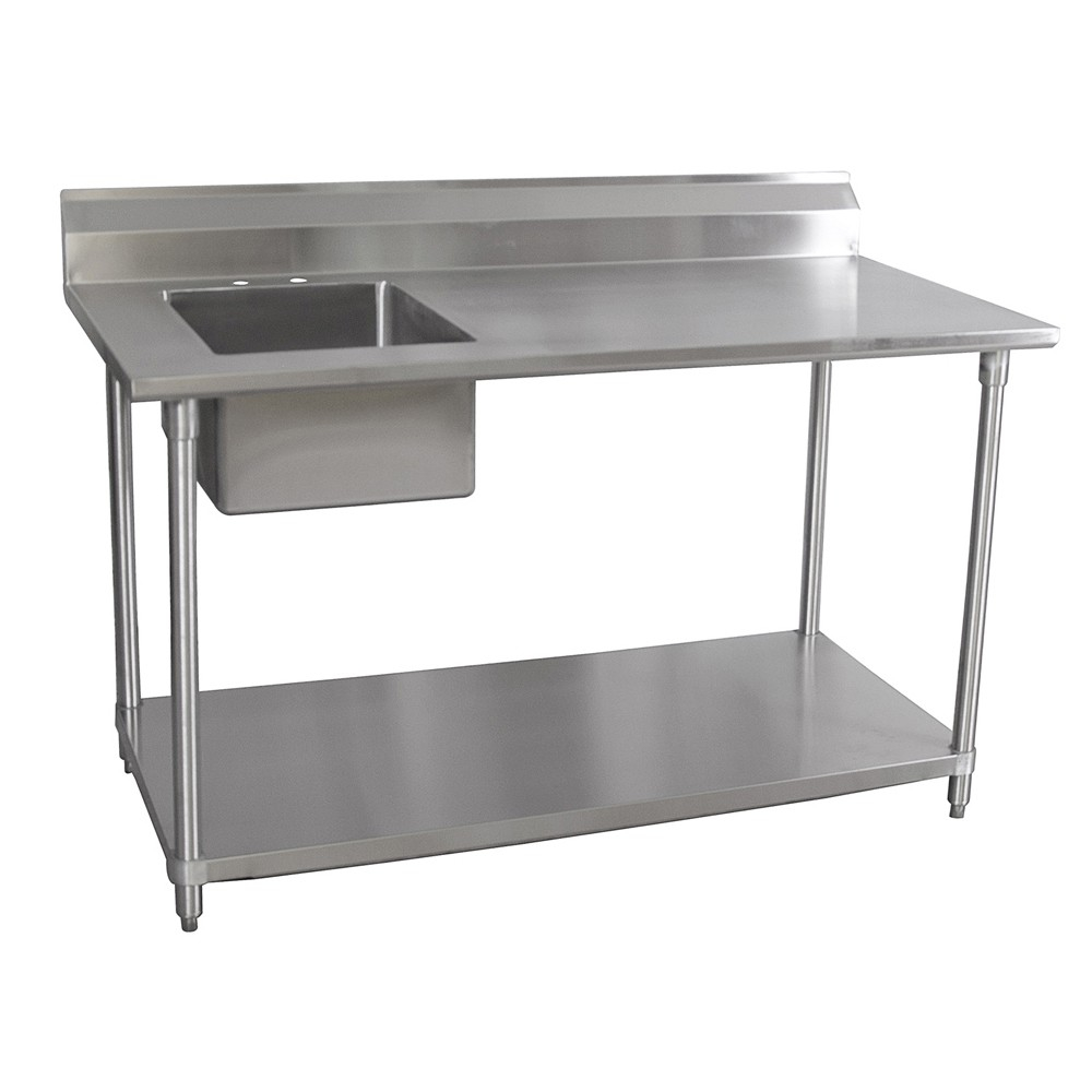 Ideas, 30 x 60 stainless steel table with sink and faucet 30 x 60 stainless steel table with sink and faucet bk resources stainless steel prep table 30 x 60 x 35 w ss legs 1000 x 1000 1  .