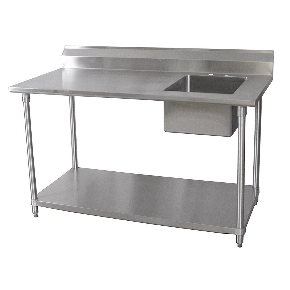 Ideas, 30 x 60 stainless steel table with sink and faucet 30 x 60 stainless steel table with sink and faucet bk resources stainless steel prep table 30 x 60 x 35 w ss legs 1000 x 1000  .