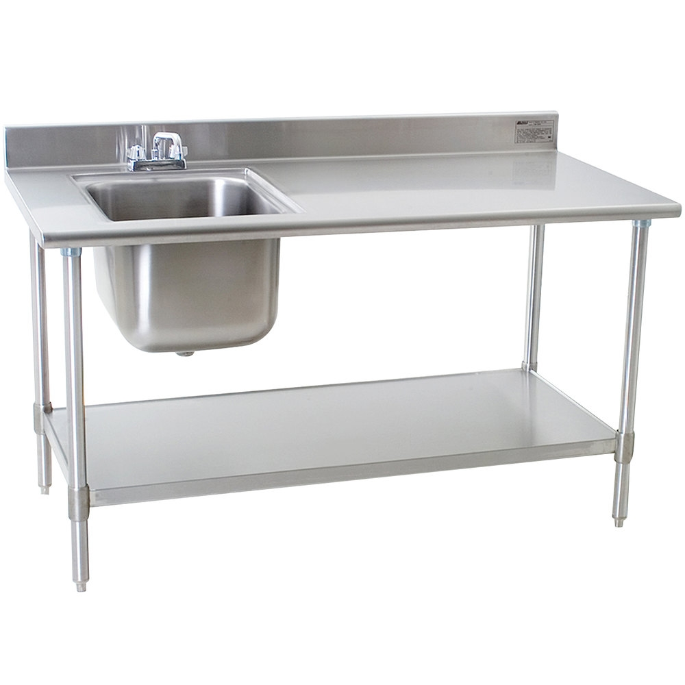 Ideas, 30 x 60 stainless steel table with sink and faucet 30 x 60 stainless steel table with sink and faucet eagle group t3060seb bs e23 30 x 60 stainless steel deluxe work 1000 x 1000  .