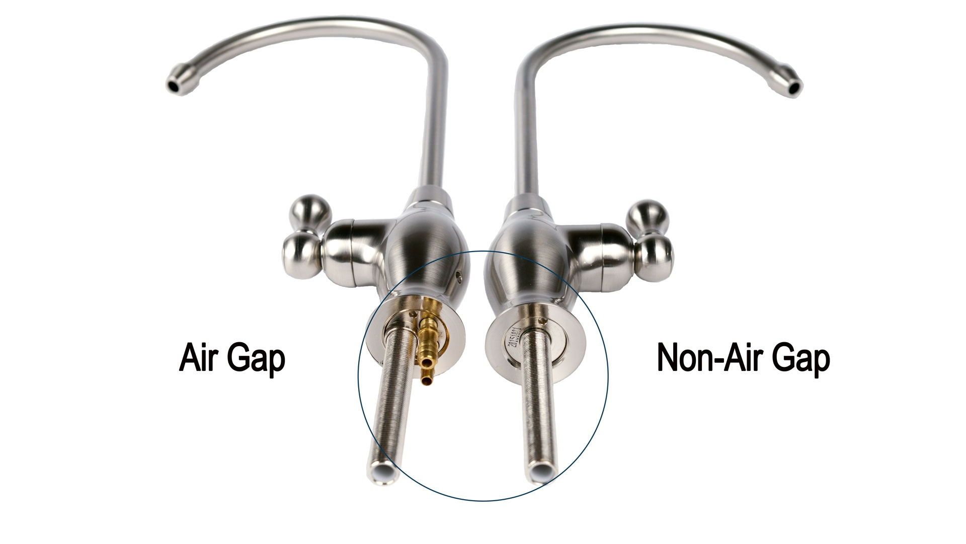 Air Gap Faucets For Reverse Osmosis Systems