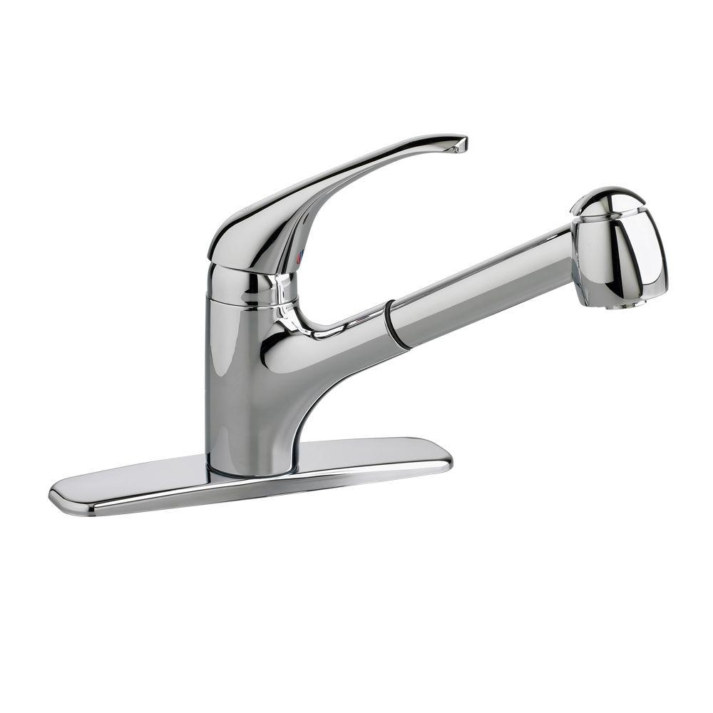 Ideas, all metal pull out kitchen faucet all metal pull out kitchen faucet american standard reliant plus single handle pull out sprayer 1000 x 1000  .