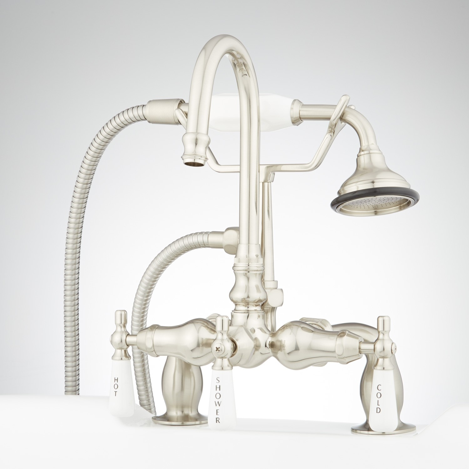 Ideas, allister deck mount tub faucet and hand shower porcelain lever for sizing 1500 x 1500  .