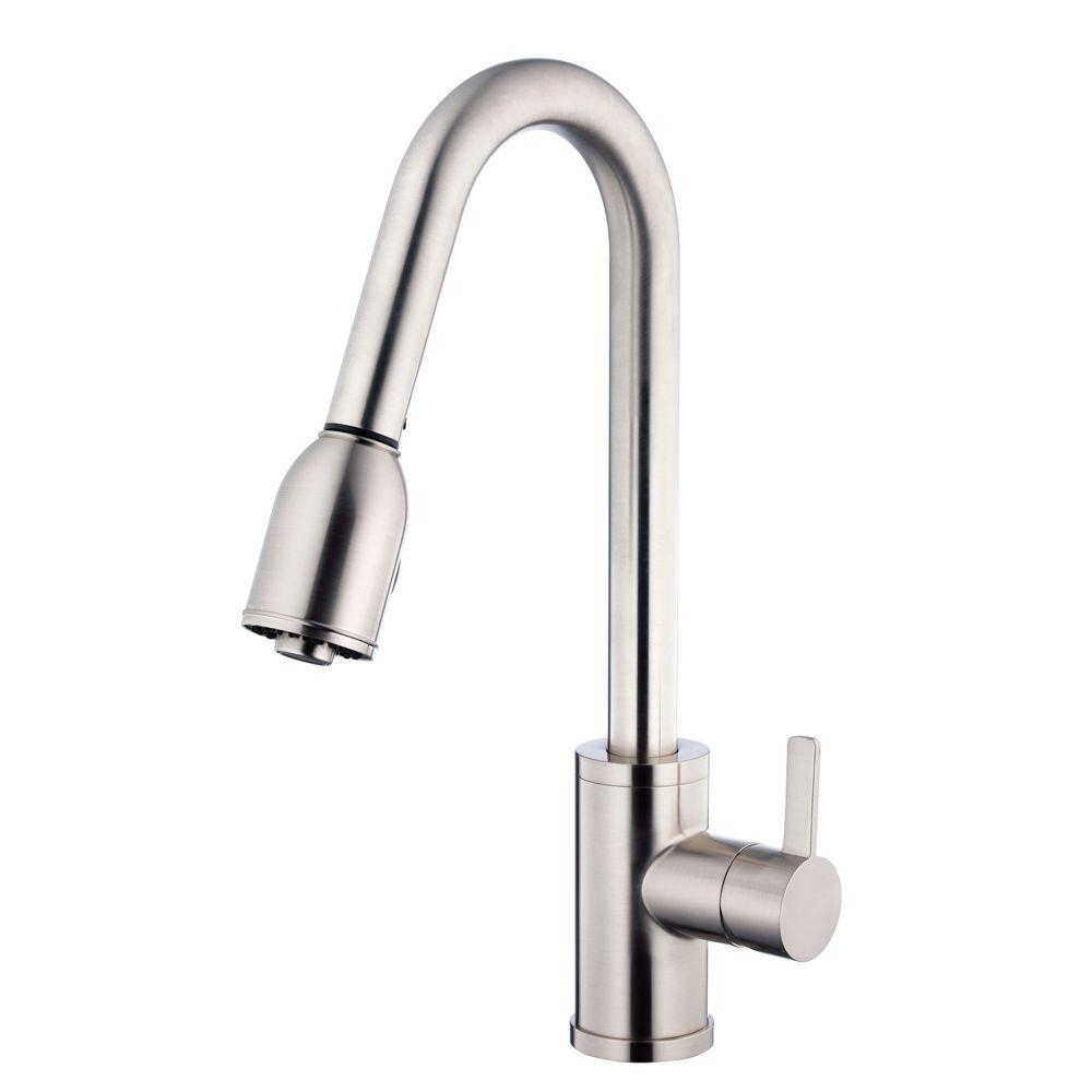 Ideas, amalfi single handle pull down sprayer kitchen faucet in stainless within proportions 1000 x 1000  .