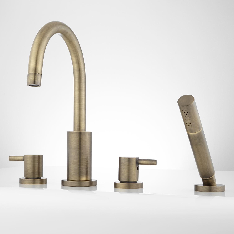 Ideas, antique brass bathtub faucets antique brass bathtub faucets rotunda roman tub faucet and hand shower bathroom 1500 x 1500  .