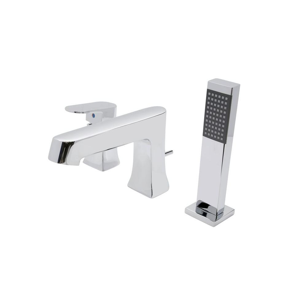 Ideas, anzzi rin series single handle deck mount roman tub faucet with throughout proportions 1000 x 1000  .