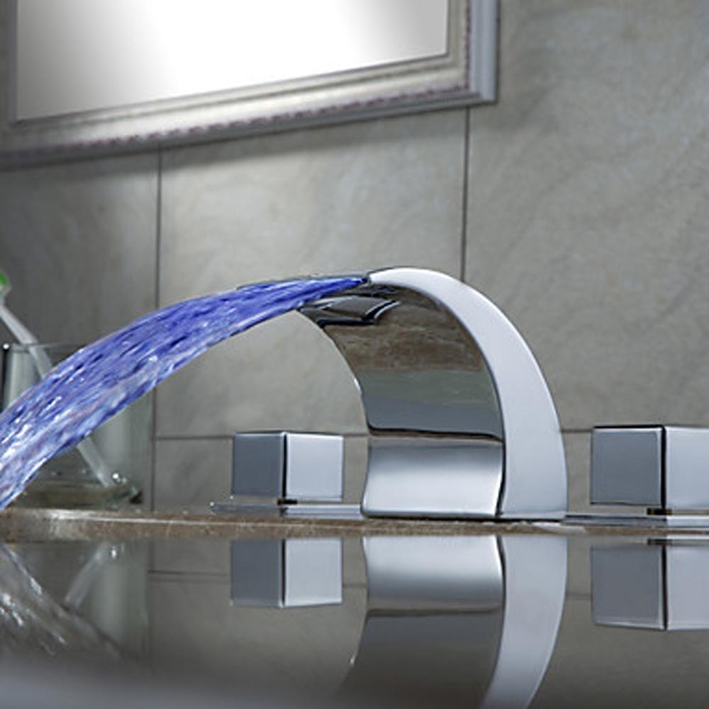 Ideas, bath faucet with led light bath faucet with led light color changing led light bathroom waterfall chrome bath tub faucets 1000 x 1000  .
