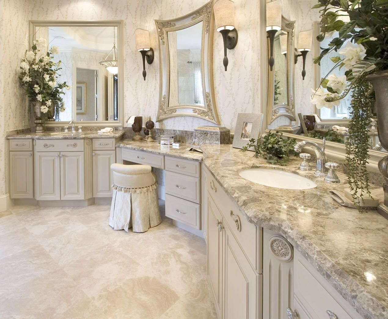 One Sink Two Faucets Vanity