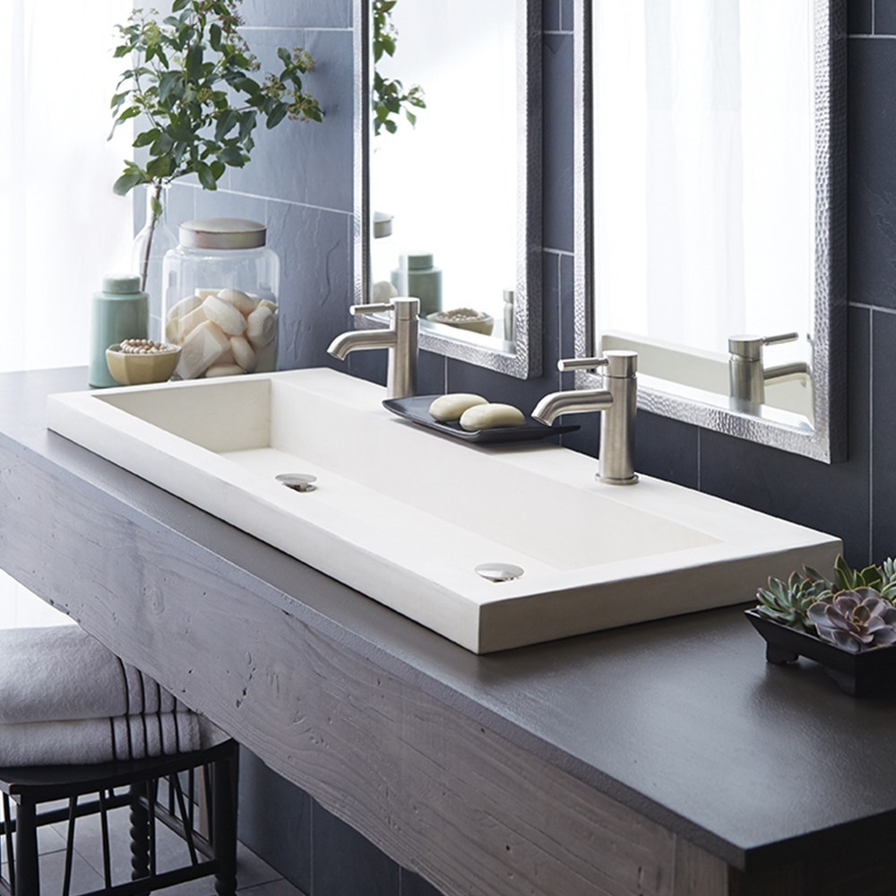 Ideas, bathroom charming double trough sink for best bathroom sink pertaining to sizing 1000 x 1000  .