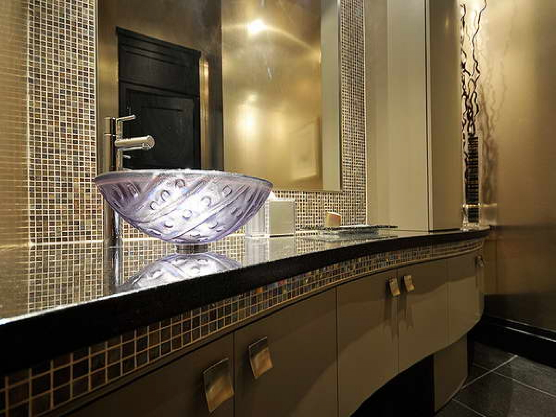Ideas, bathroom elegant glass vessel vanity sink beige tile backsplash regarding sizing 1920 x 1440  .