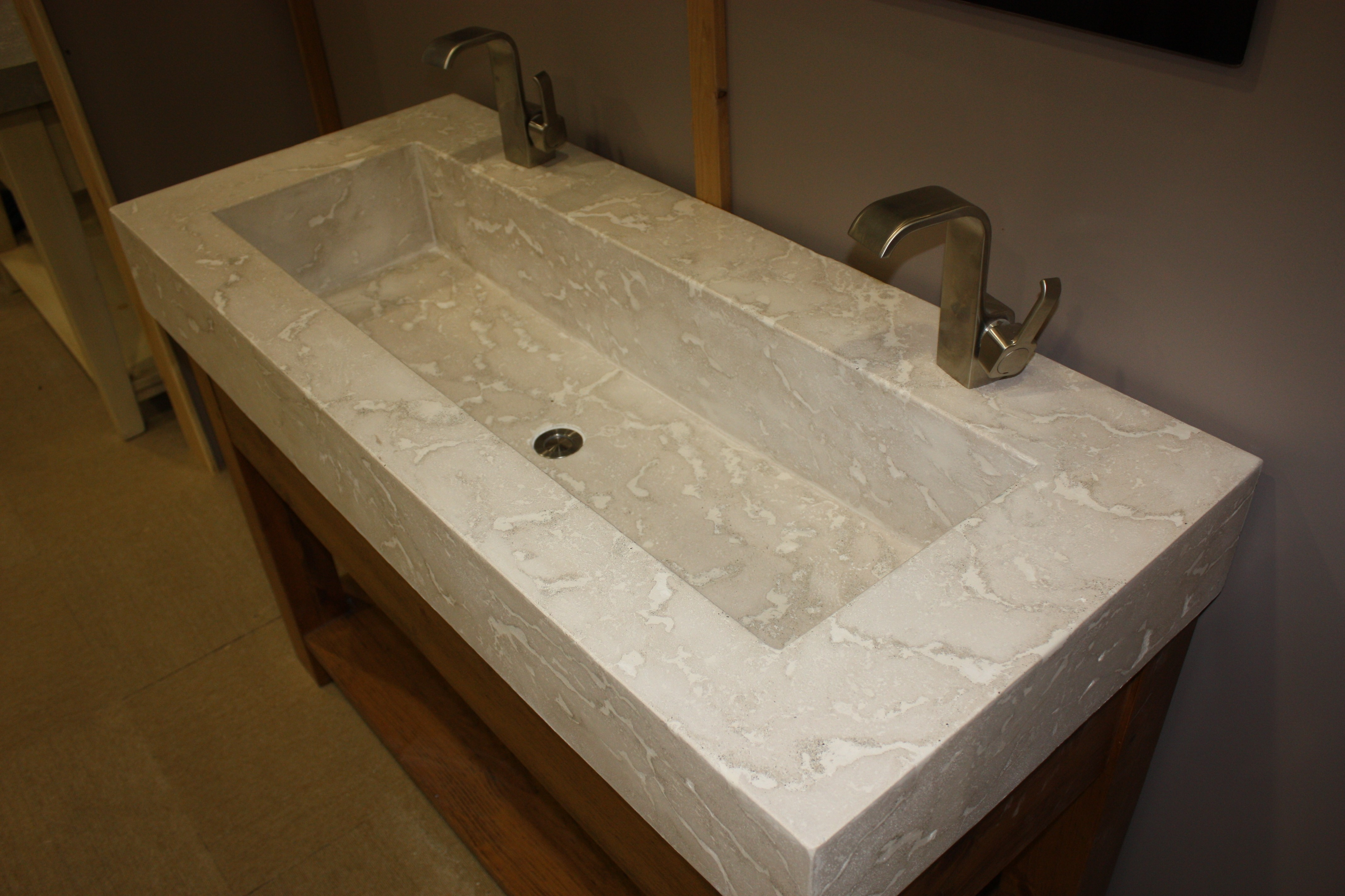 Ideas, bathroom elegant trough bathroom sink with two faucets nu with size 4272 x 2848  .