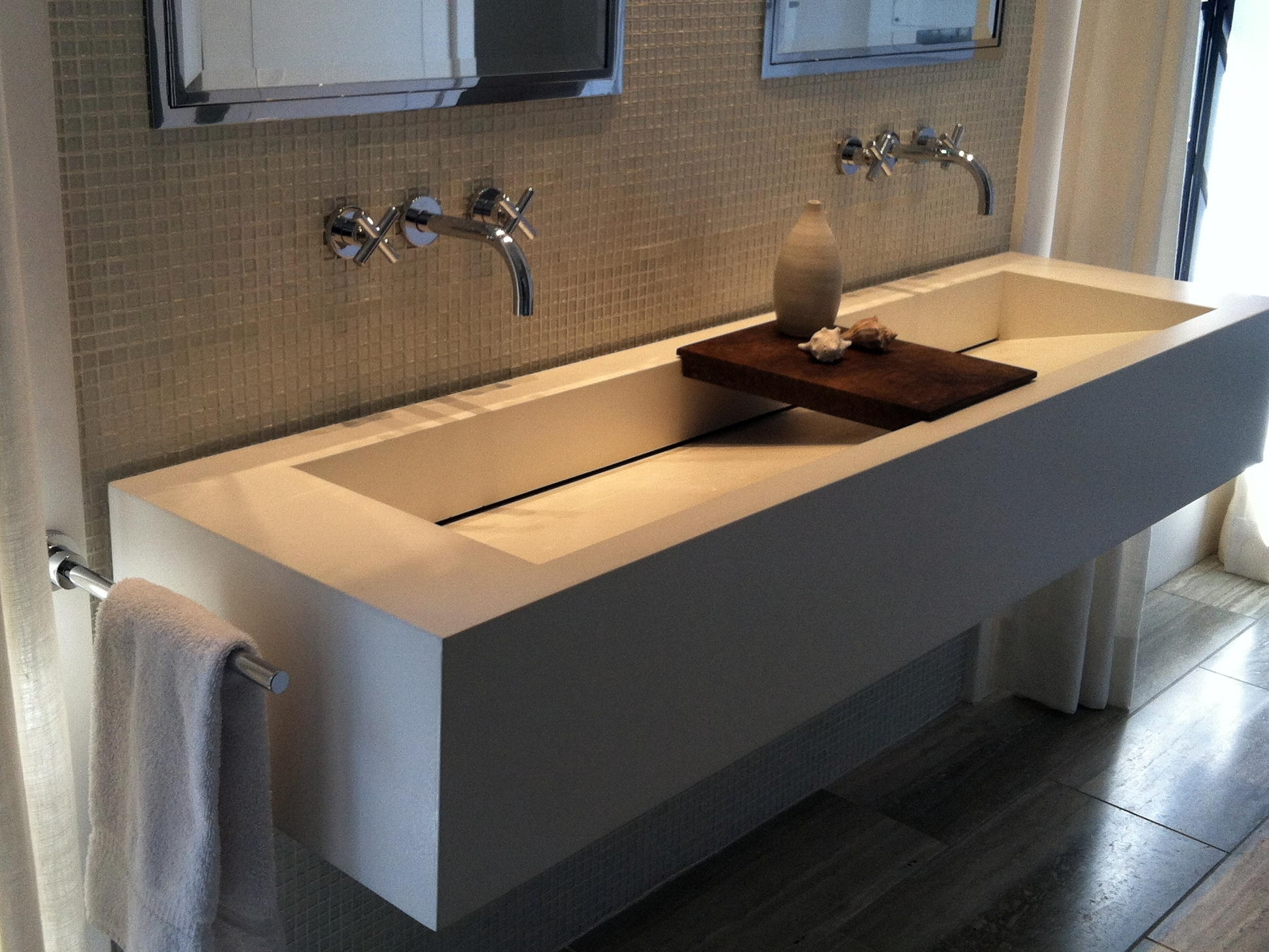 Ideas, bathroom fabulous trough sink for bathroom and kitchen for proportions 1940 x 1456  .