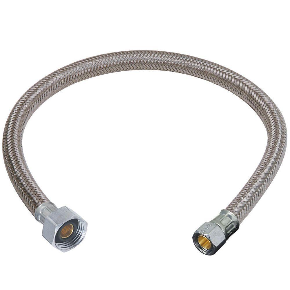 Ideas, bathroom faucet hose connector bathroom faucet hose connector brasscraft 38 in compression x 12 in fip x 12 in braided 1000 x 1000  .