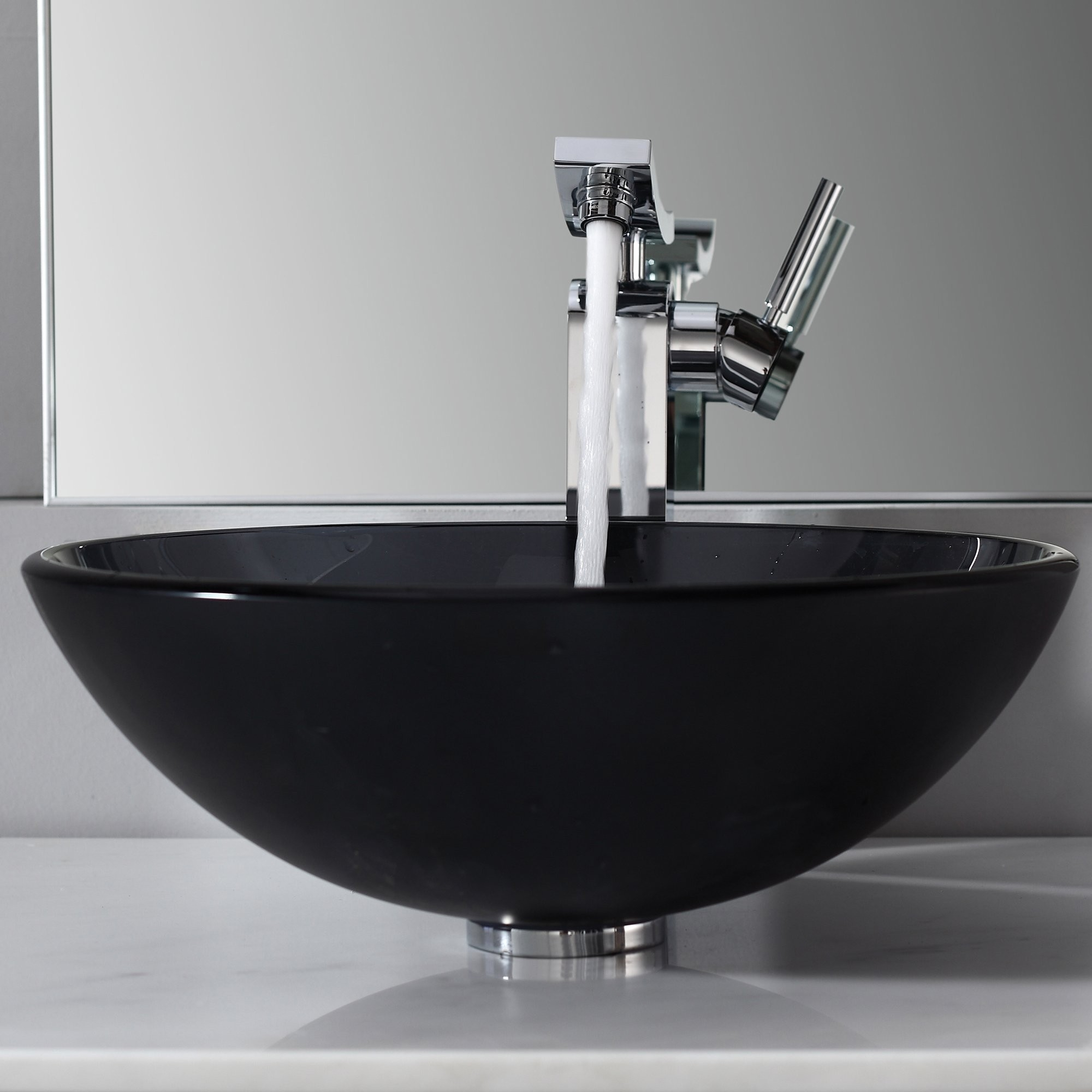 Ideas, bathroom glass vessel sink and faucet combination kraususa within proportions 2000 x 2000  .