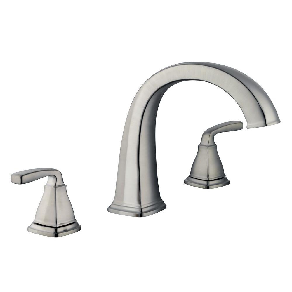 Ideas, belle foret mason 2 handle deck mount roman tub faucet in brushed throughout proportions 1000 x 1000  .