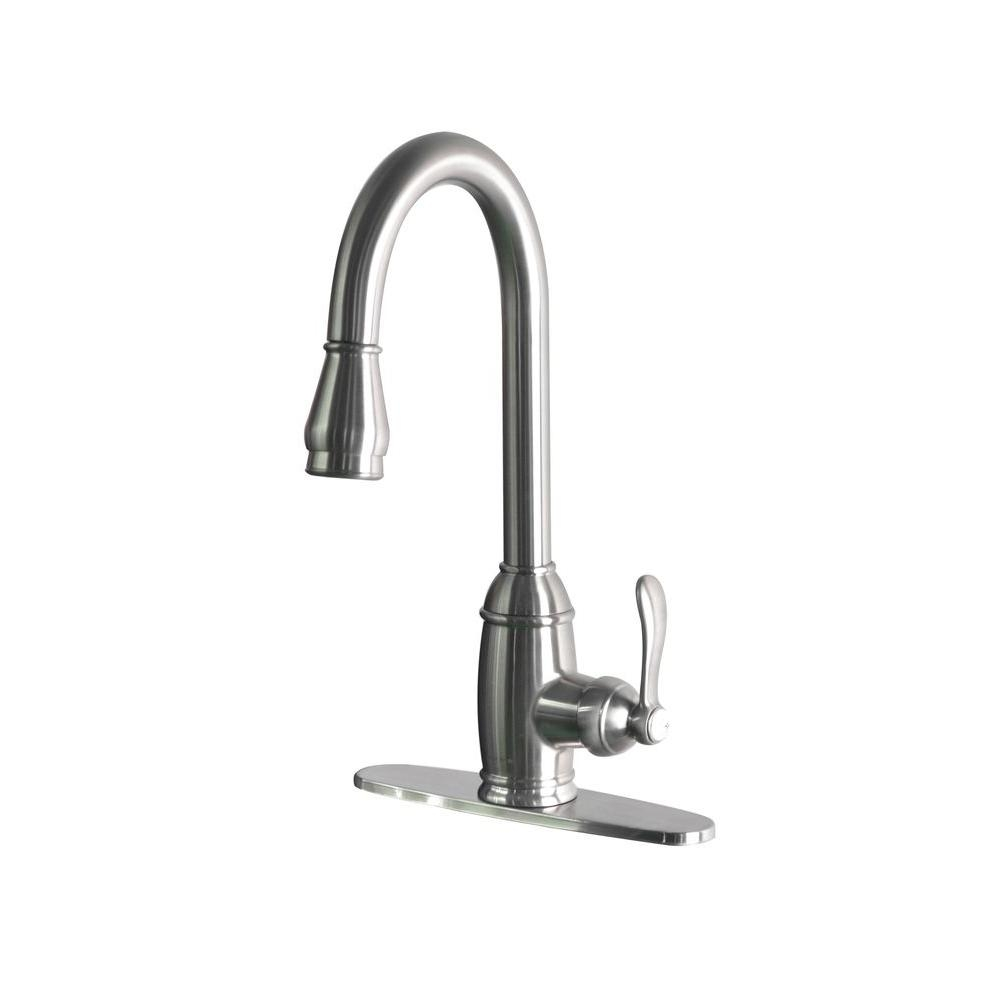 Ideas, belle foret single handle pull down sprayer kitchen faucet in intended for size 1000 x 1000  .