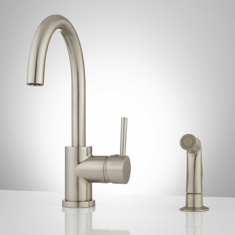 Ideas, best kitchen faucet with separate sprayer best kitchen faucet with separate sprayer lora gooseneck single handle kitchen faucet with side spray kitchen 1500 x 1500  .