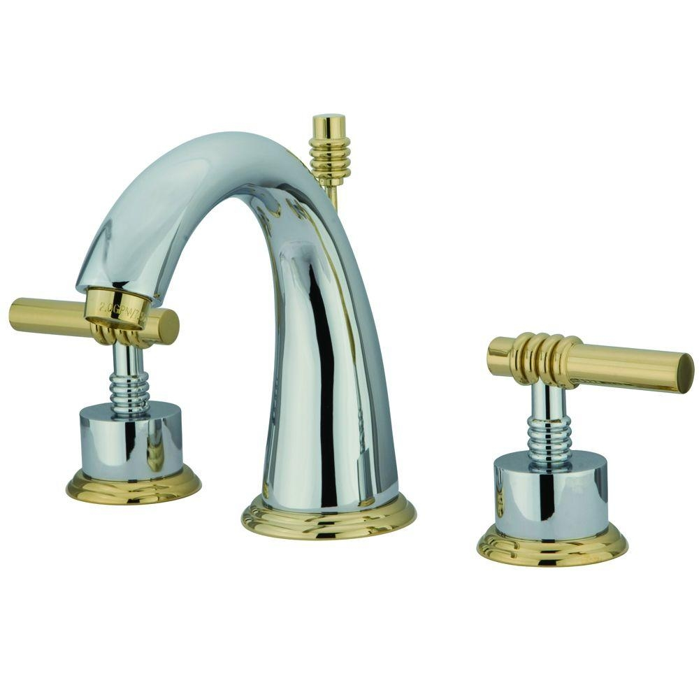 Ideas, brass and chrome bathtub faucets brass and chrome bathtub faucets kingston brass milano 8 in widespread 2 handle mid arc bathroom 1000 x 1000  .