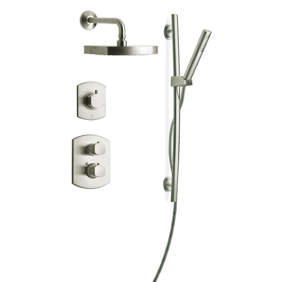 Ideas, brushed nickel 3 handle shower faucet barclay city brushed nickel for proportions 900 x 900  .