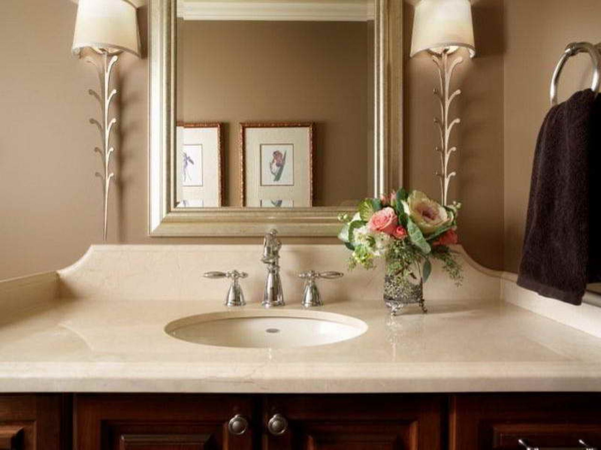 Ideas, brushed nickel faucet small powder room design ideas design wide pertaining to size 1920 x 1440  .