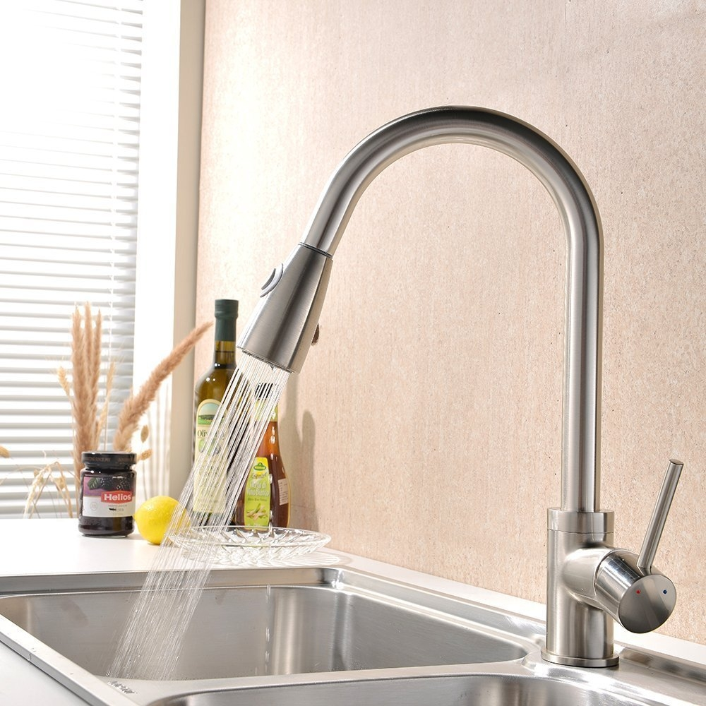 Ideas, brushed nickel kitchen faucet with stainless steel sink best with measurements 1000 x 1000  .