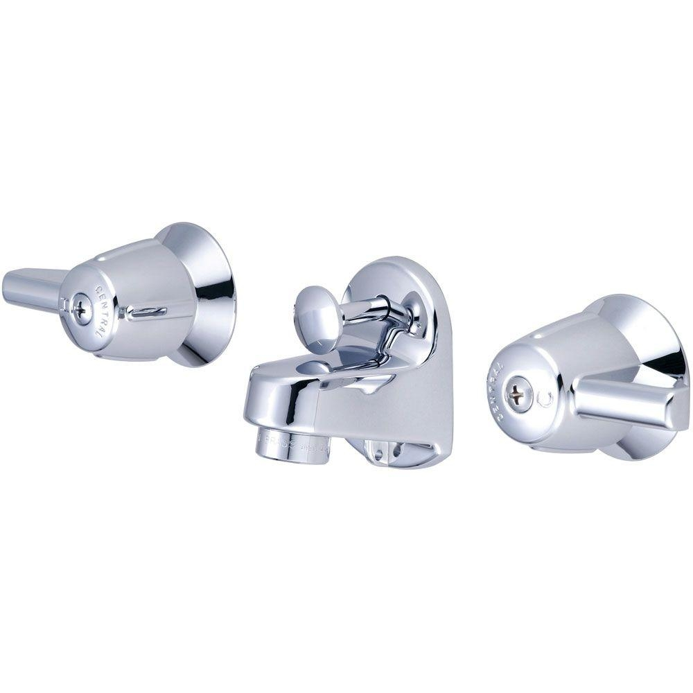 central brass 4 in centerset 2 handle low arc bathroom faucet in in proportions 1000 x 1000