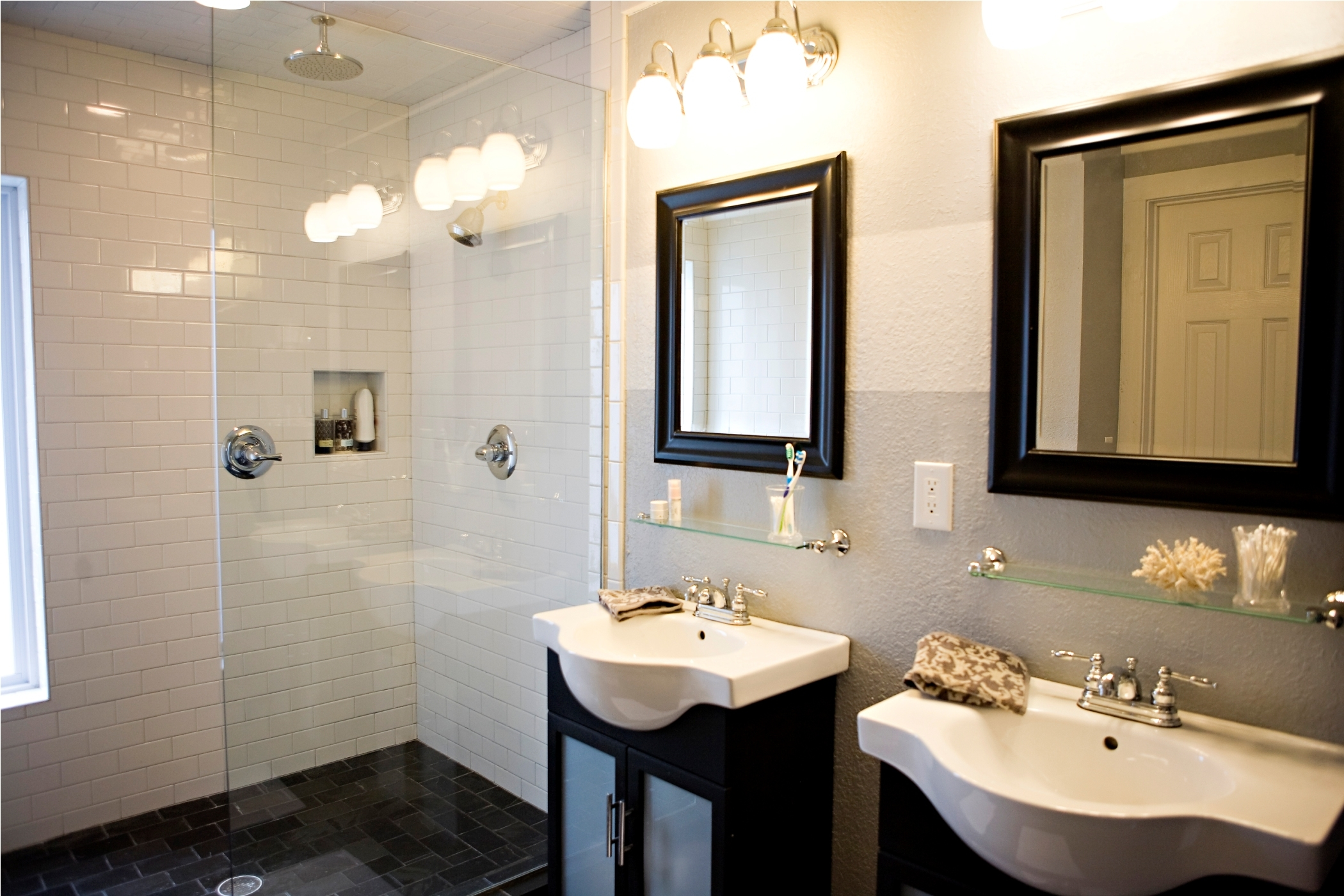 charming bathroom design ideas come with double black vanity with within sizing 2100 x 1400