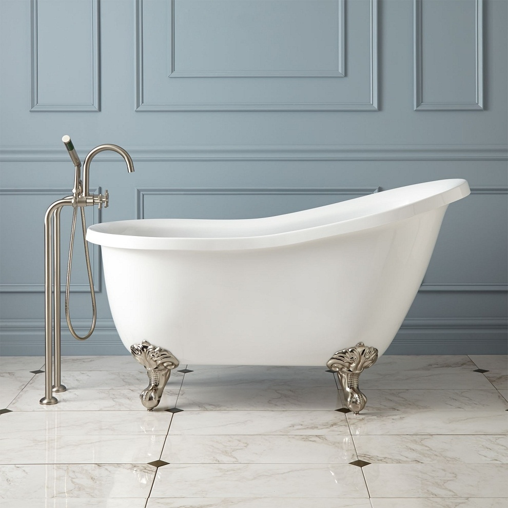 Ideas, clawfoot tub faucet with riser connection clawfoot tub faucet with riser connection attractive vintage claw foot bath tub fancy bath tub designs 990 x 990  .